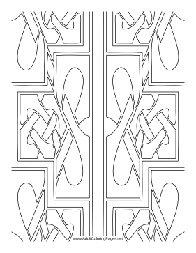 Braided coloring page