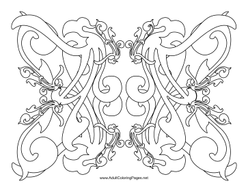 Curl coloring page