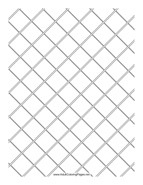 Fenced coloring page
