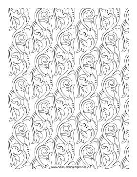 Filigree coloring page