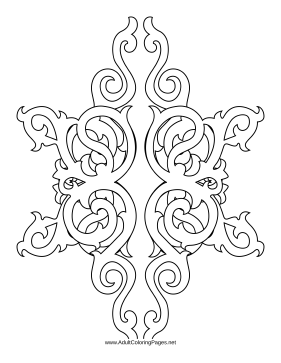 Gothic coloring page
