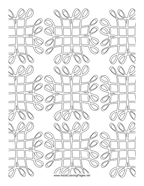 Grid coloring page