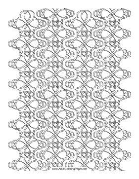 Knotted coloring page