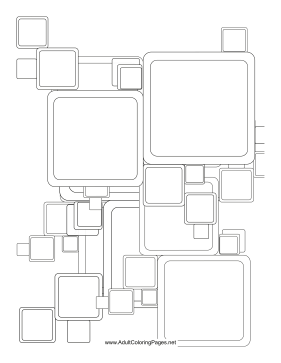 Layers coloring page
