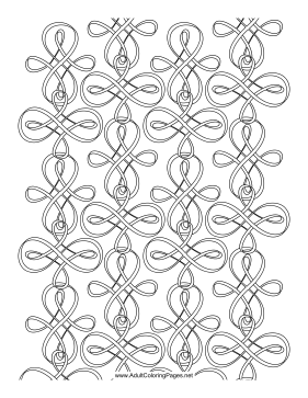 Lemniscate coloring page