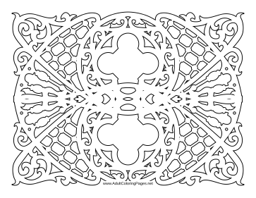 Ornate coloring page