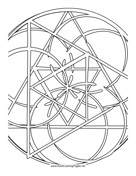 Overlap coloring page