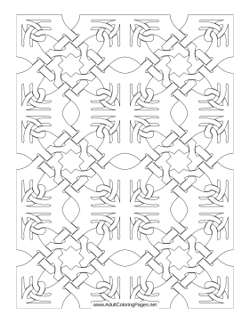 Puzzle coloring page