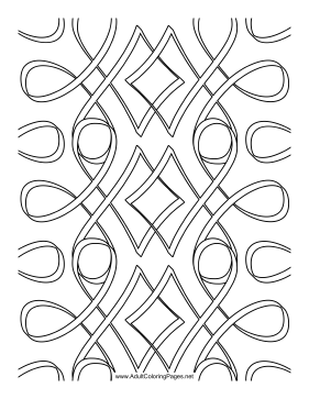 Ribbons coloring page