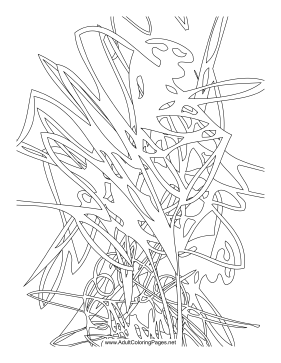 Scribble coloring page