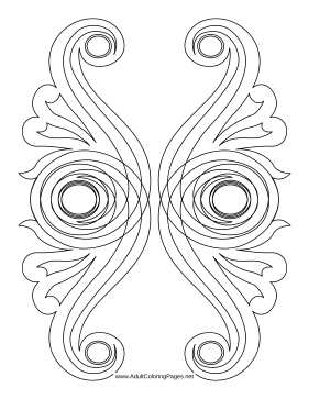 Scrollwork coloring page