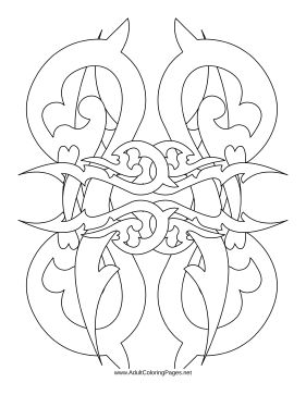 Thorns coloring page