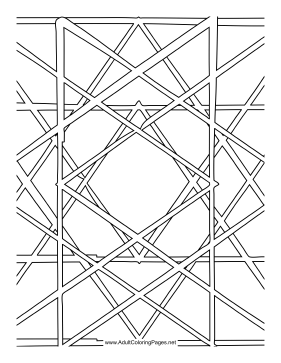 Woven coloring page