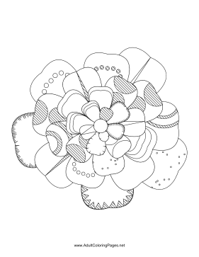 Flower-00 coloring page