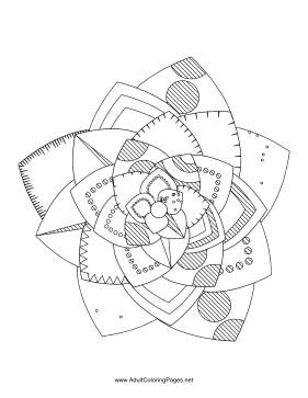 Flower-01 coloring page
