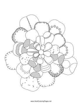 Flower-03 coloring page