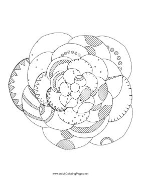 Flower-04 coloring page
