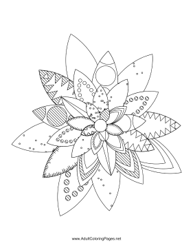 Flower-05 coloring page