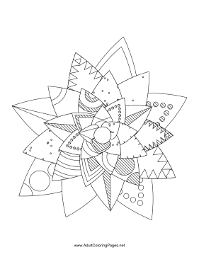 Flower-06 coloring page