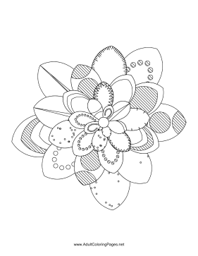 Flower-08 coloring page