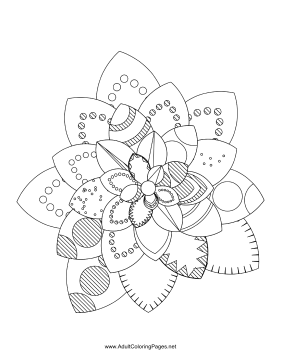 Flower-09 coloring page