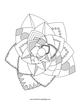 Flower-10 coloring page