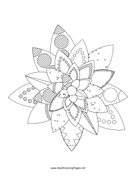 Flower-11 coloring page