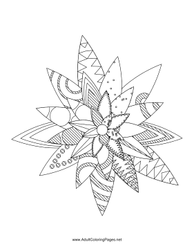 Flower-12 coloring page