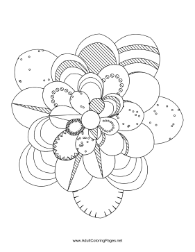 Flower-13 coloring page