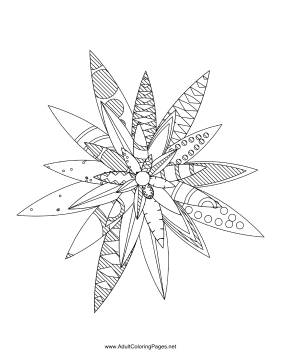 Flower-14 coloring page