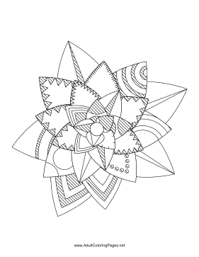 Flower-15 coloring page