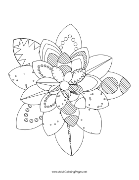 Flower-16 coloring page