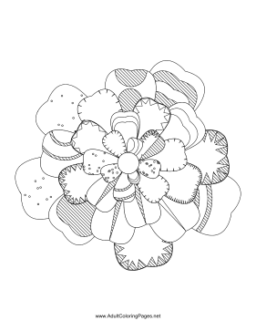 Flower-17 coloring page