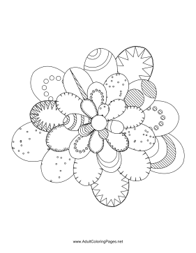 Flower-18 coloring page