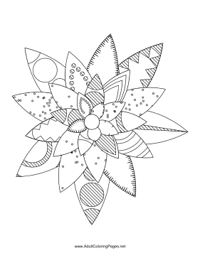 Flower-19 coloring page