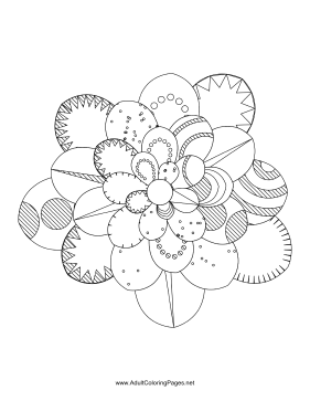 Flower-20 coloring page