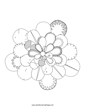 Flower-21 coloring page