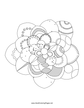 Flower-22 coloring page