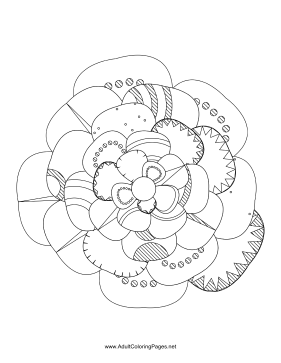 Flower-23 coloring page