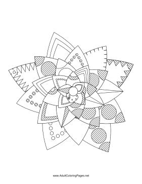 Flower-24 coloring page