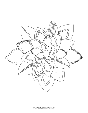 Flower-25 coloring page