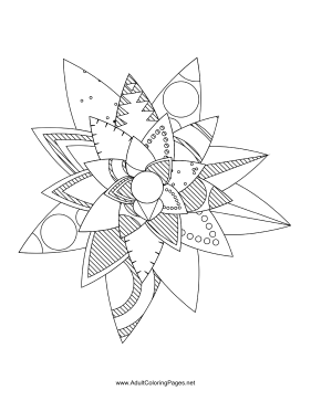 Flower-27 coloring page