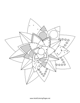 Flower-28 coloring page
