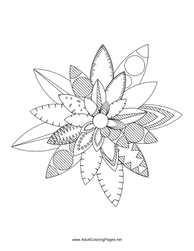 Flower-29 coloring page