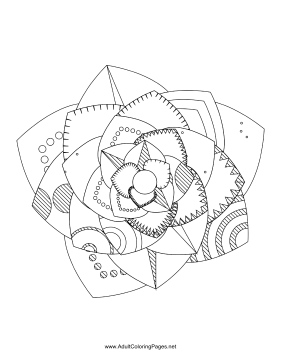 Flower-30 coloring page