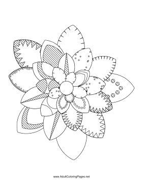 Flower-31 coloring page
