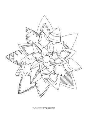 Flower-32 coloring page