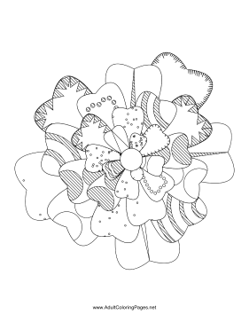 Flower-33 coloring page