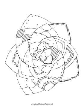 Flower-34 coloring page
