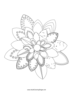Flower-35 coloring page